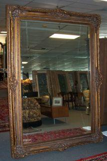 "Large French Style Designer Mirror Large French Style Designer Mirror. Measures aprox 86"" x 62""."