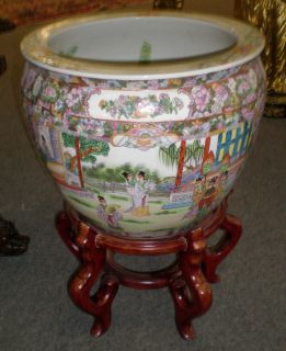 Oriental Fish Bowl on a stand Oriental Fish Bowl on a stand. We have several sizes. Please contact us today for current sale price.