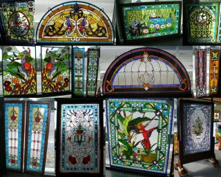 Huge Selection of Stained Glass Panels  We Always have a Huge Selection of Stained Glass Panels. Please contact us today for current inventory & sale prices.