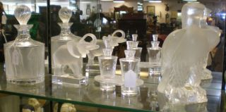 Several Fine Crystal & Glass Collections We currently have several Fine Crystal & Glass Collections. Including but not limited to: Lalique, Swarovski, Stuben, Waterford, Val St. Lambert, St.Louis, Murano art glass etc.  Please contact us today for current inventory and sale prices.