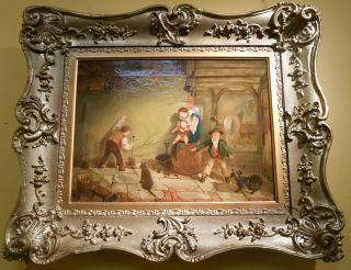 """Original Oil Painting by Thomas Faed (1826-1900)  Beautiful Antique Oil on canvas Painting by Famous Scottish Artist, """"Thomas Faed"""" (1826-1900). Wonderful interior scene. Painting measures aprox 16"""" x 12"""". Frame measures 24"""" x 20"""". Fully restored and cleaned. Mint condition. Thomas Faed has an incredible Artist Listing and his paintings are in some of the greatest Museums in the world. Price Available on Request. Serious inquires Please contact us. Click on Picture to see additional photos.  Thomas Faed RSA (1826 - 1900) was a Scottish painter who is said to have done for Scottish art what Robert Burns did for Scottish song."""