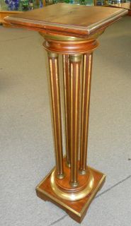 "Antique Mahogany Empire Pedestal Antique Mahogany Empire Pedestal with Brass mounts. Stands 44-1/2"" tall. Very good condition. Serious inquires Please contact us. Click on Picture to see additional photos."