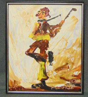 """Original Oil Painting by Morris Katz Original Oil Painting on Board by famous painter, Morris Katz (b. Poland 1932-2010). Artist signed and Dated 1978. Measures 25"""" tall x 21"""" wide. Condition is very good. No Damage. Serious inquires Please contact us. Click on Picture to see additional photos."""