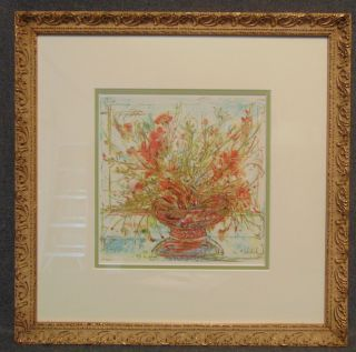"Edna Hibel (1917-2014) Floral Lithograph Signed Framed and Matted Edna Hibel Floral Lithograph. Artist Signed and Limited Edition #261 of 398. Measures 17-1/2"" tall x 17-1/2"" wide. Condition is very good. No Damage. Serious inquires Please contact us. Click on Picture to see additional photos."