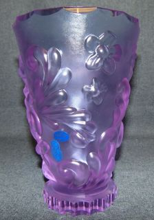 "Czech Art Deco Alexandrite Glass Vase Czech Art Deco Style Alexandrite Glass Figural Vase. Measures 7-3/4"" tall. Condition is New, Mint. No Damage. Serious inquires Please contact us. Click on Picture to see additional photos."