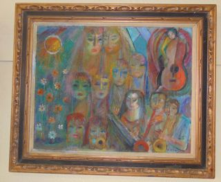 "Oil Painting by Florence Krieger (1919-2011) Oil on Canvas Painting by Listed Artist Florence Krieger (1919-2011). Frame measures 31-1/2"" tall x 38"" wide. Canvas measures 23-1/2"" tall x 29-1/2"" wide. Condition is good. No Damage. Florence Krieger is a well listed and exhibited Brooklyn artist who worked in a variety of mediums. Recipient Purchase award Art Students League, 1965, Salmagundi Club prize, 1980, Knicherbocker Artists award, 1988. Member Allied Artists American, Catherine Lorillard Wolfe Art Club, American Artist Professional League, Knickerbocker Arts, National Art Club, Riverside Museum. Starting Bid $50. Auction Estimate $350 - $400."