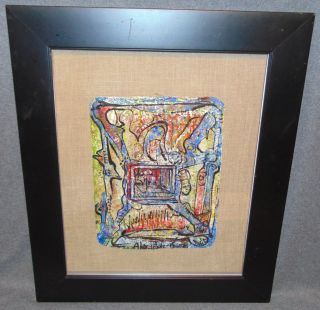 "Original Contemporary Oil Painting by Alexander Gore Framed Original Oil Painting by Russian Artist ""Alexander Gore"" under glass. Artist signed and Dated 2016. Titled ""The Structural Properties of Humanity"". Frame measures 25-1/2"" tall x 20-3/4"" wide. Includes Certificate of Authenticity. Condition is Excellent. No Damage. Starting Bid $50. Auction Estimate $70 - $100."