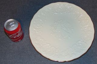 "The Lenox China Marriage Plate The Lenox Ivory China Marriage Plate from the Wedding Promises Collection. Measures 12-1/2"" wide. Condition is very good. No Damage. Starting Bid $40. Auction Estimate $40 - $50."