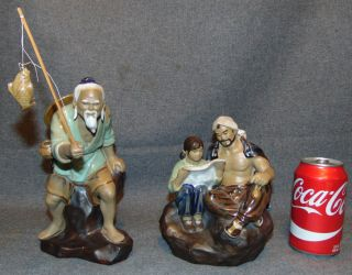 "2 Mud Men Pottery Figures 2 Mud Men Pottery Figures. One measures 9"" tall and the other is 7"" tall.  Condition of both is very good. No Damage. Starting Bid $50 for both. Auction Estimate $50 - $70."