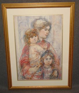 "Edna Hibel (1917-2014) Limited Edition Print Edna Hibel (1917-2014) Framed and Matted Limited Edition Print. #129 of 2500. COA included. Edna Hibel, a painter of sentimental pictures of children, has had a more than 60-year career as painter and lithographer and promoter of peace through exhibitions of her artwork. Hibel's work has been exhibited in museums and galleries in more than 20 countries including Russia, Brazil, China, Costa Rica, and the United States, and under the royal patronage of Count and Countess Bernadotte of Germany, Count Thor Bonde of Sweden, Prince and the late Princess Rainier of Monaco and Her Majesty Queen Elizabeth II of England. Frame measures 29"" tall x 22-1/2"" wide. Condition is very good with minimal wear. No damage. Starting Bid $30. Auction Estimate $30 - $40."