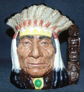 "Royal Doulton Toby Mug North American Indian #6611 Large Royal Doulton Toby Mug ""North American Indian"" #6611. Measures 7-1/2"" tall. Condition is very good. No Damage. Starting Bid $30. Auction Estimate $30 - $40."