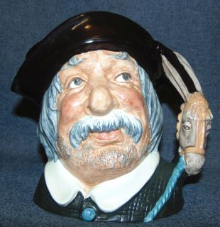 """Royal Doulton Toby Mug Sancho Panca #6456 Large Royal Doulton Toby Mug """"Sancho Panca"""" #6456. Measures 7"""" tall. Condition is very good with the exception of a flea sized chip (see close-ups). Starting Bid $30. Auction Estimate $30 - $40."""