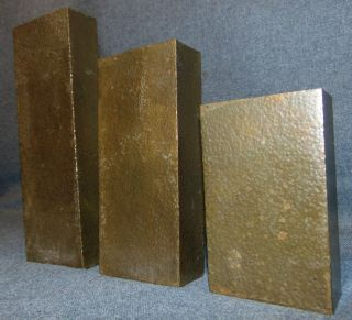 """Antique Arts & Crafts Copper Wall Pockets  Rare Set of 3 Antique Arts & Crafts Hand Hammered Copper Wall Pockets. Circa early 1900's. Largest measures 9"""" tall x 3"""" wide. Middle size measures 7"""" tall x 3"""" wide. Smallest measures 5"""" tall x 3"""" wide. Condition is very good. No damage at all. Unsigned. Starting Bid $50 for all 3. Auction Estimate $80 - $100."""