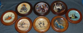 8 Framed Norman Rockwell LE Collector Plates 8 Framed Norman Rockwell Limited Edition Collector Plates from Newell Pottery Co. Condition of each is good. No damage. Starting Bid $50 for all 8. Auction Estimate $100 - $120.
