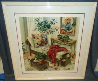 "Susan Rios Serigraph ""Planning the Future"" Lovely Framed & Matted Artist Proof Serigraph by Susan Rios. Titled ""Planning the Future"". Pencil Signed & Numbered 37 of 60. Frame measures 39-1/2"" tall x 37-3/4"" wide. Overall condition is good. Need Cleaning. Starting Bid $50. Auction Estimate $200 - $400."