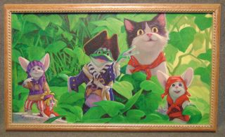 "Leonard Filgate Limited Edition Giclee ""Wow"" Framed Leonard Filgate Limited Edition Giclee. Titled ""Wow"". Wow is from the Rip Squeak series by Leonard Filgate. Signed and Limited Edition #22 of 195. Leonard Filgate (born August 26, 1947) is an artist and illustrator, best known for the Rip Squeak children's books and merchandise he and his wife, author Susan Yost-Filgate, created in 1997. Frame measures 13-3/4"" tall x 22-3/4"" wide. Condition is very good. No Damage. Starting Bid $50. Auction Estimate $80 - $100."
