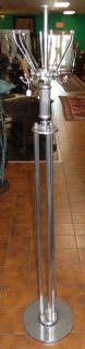 "Vintage Art Deco Chrome Coat & Hat Rack Hall Tree Vintage Art Deco Chrome Coat & Hat Rack or Hall Tree. Measures 72"" tall. Condition is very good with minimal wear. No damage. Starting Bid $50. Auction Estimate $80 - $120."
