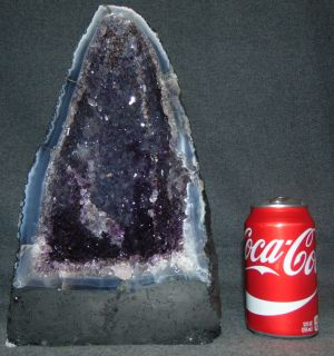 "Amethyst Geode Cathedral  Amethyst Geode Cathedral. Measures 12-3/4"" tall x 8"" wide. Overall condition is Excellent. No Damage. Several Shipping Options Available. Starting Bid $150. Auction Estimate $200 - $250."
