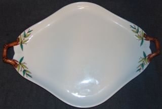 """Vintage English Porcelain 2 Handled Tray Large Vintage English Porcelain 2 Handled Tray. Hand Painted. Measures 19-3/4"""" x 14"""". Overall condition is Excellent. No Damage. Several Shipping Options Available. Starting Bid $40. Auction Estimate $50 - $60."""