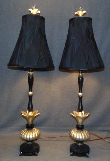 "Pair (2) of Decorative Table Lamps Pair (2) of Decorative Table Lamps. Each measures 36"" tall. Condition is Like New. Very good. No Damage. Several Shipping Options Available. Starting Bid $80 for both. Auction Estimate $100 - $150."