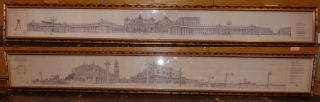 """2 Panoramic Prints Venice & Vatican 2 Framed Panoramic Prints reproduced from Serigraphs by Takahiro Kishi. One of Venice and one of St. Peter's Square and the Vatican. Venice print framed measures 11"""" tall x 80"""" wide. Vatican print framed measures 9-1/2"""" tall x 77"""" wide. Condition is good. No damage. Several Shipping Options Available. Starting Bid $100 for both. Auction Estimate $120 - $150."""