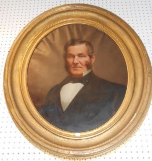 "Antique Oil Painting Portrait Antique Oil Painting Portrait and Frame. 19th Century. Unsigned. Measures 36"" tall x 32"" wide. Overall condition is good. Wear consistent with age and use. Several Shipping Options Available. Starting Bid $100. Auction Estimate $120 - $150."