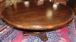"""Rustic Round Dining Table Rustic Round Dining Table. Heavy. Measures 30"""" tall x 63"""" wide. Overall condition is good with minor wear. Several Shipping Options Available. Starting Bid $200. Auction Estimate $250 - $300."""