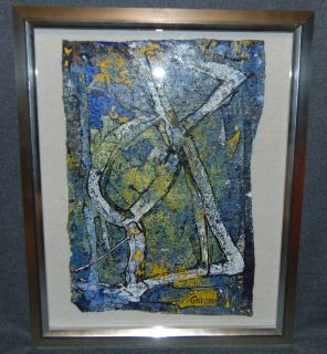 "Original Contemporary Oil Painting by Alexander Gore Original Oil Painting, Framed under glass by Russian Artist ""Alexander Gore"". Oil on Linen. Titled ""Human Shape in Abstract Form"". Artist signed and Dated 2019. Frame measures 22"" tall x 18"" wide. Includes Certificate of Authenticity. Condition is Excellent. No Damage. Several Shipping Options Available. Starting Bid $150. Auction Estimate $180 - $250."