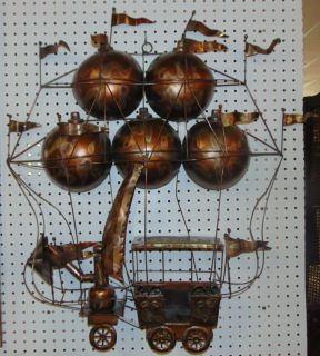 "1970s C. Jere Brutalist Copper Hot Air Balloon Sculpture Brutalist Style Copper Hot Air Balloon Sculpture by Curtis Jere. Circa 1970's. Measures 32"" tall x 30"" wide. Condition is very good with minimal wear. No damage. Several Shipping Options Available. Starting Bid $70. Auction Estimate $80 - $120."