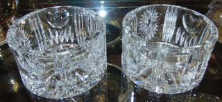 """Pair (2) of Waterford Crystal Bowls Pair (2) of Waterford Crystal Bowls. Each measures 3"""" tall x 5"""" wide. Condition is Like New. Very good. No Damage. Several Shipping Options Available. Starting Bid $80 for both. Auction Estimate $100 - $150."""