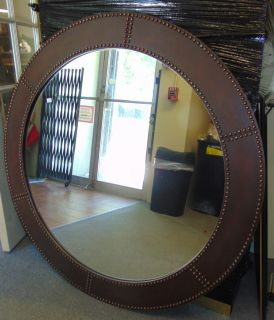 "Decorators Round Iron Wall Mirror Large, Decorators Round Iron Wall Mirror. Measures 48"" round. Very heavy. Condition is good with minimal wear. No damage. Several Shipping Options Available. Starting Bid $50. Auction Estimate $80 - $120."