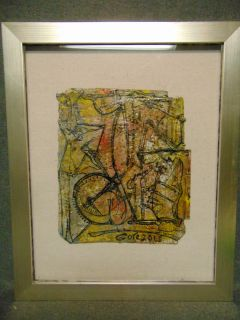 """Original Contemporary Oil Painting by Alexander Gore Original Oil Painting, Framed under glass by Russian Artist """"Alexander Gore"""". Oil on Linen. Titled """"The Transcolors on a Heavy Side"""". Artist signed and Dated 2018. Frame measures 23"""" tall x 18-1/2"""" wide. Includes Certificate of Authenticity. Condition is Excellent. No Damage. Several Shipping Options Available. Starting Bid $50. Auction Estimate $150 - $250."""