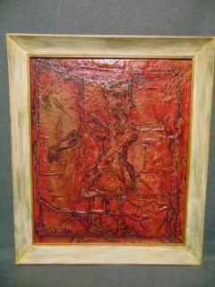 "Original Contemporary Oil Painting by Alexander Gore Original Oil Painting by Russian Artist ""Alexander Gore"". Oil on Linen Board. Titled ""Seeing Red"". Artist signed and Dated 2016. Frame measures 28"" tall x 24"" wide. Includes Certificate of Authenticity. Condition is Excellent. No Damage. Several Shipping Options Available. Starting Bid $50. Auction Estimate $150 - $250."