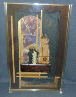 """3D Oriental Shadow Box Art signed 3D Oriental Shadow Box Art in Lucite Frame. Signed Nelson. Measures 33"""" tall x 21"""" wide x 3-1/4"""" deep. Condition is good with minimal wear. No damage. Several Shipping Options Available. Starting Bid $30. Auction Estimate $50 - $70."""