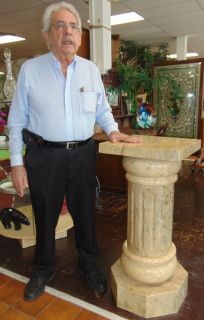 """Contemporary Style Carved Marble Display Pedestal  Beautiful and Large, Contemporary Style Carved Marble Display Pedestal. Measures 40"""" tall. Top is 18"""" x 18"""" wide. Condition is New, Mint. No Damage. Several Shipping Options Available. Starting Bid $500. Auction Estimate $750 - $900."""