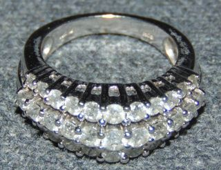 10k White Gold & 1.5 ct total weight Diamond Ring 10k White Gold & 1.5 ct total weight Diamond Ring. Size 7. Condition is very good with minimal wear. No damage. Several Shipping Options Available. Starting Bid $500. Auction Estimate $900 - $1,200.