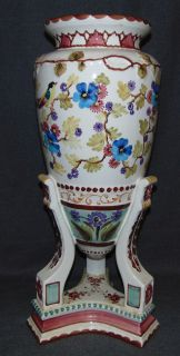 "Large Hand Painted Porcelain Vase  Beautiful Hand Painted Vase or Umbrella Stand. Well executed. Measures 26-1/2"" tall x 12"" wide. No Makers mark. Condition is very good. No Damage. Several Shipping Options Available. Starting Bid $40. Auction Estimate $70 - $80."
