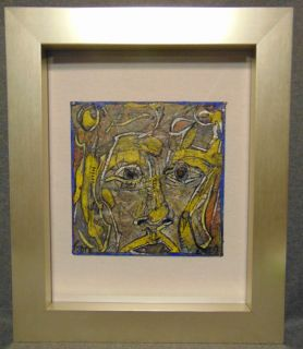 "Original Contemporary Oil Painting by Alexander Gore Original Oil Painting, Framed under glass by Russian Artist ""Alexander Gore"". Oil on Linoleum. Titled ""Grey Matter in a Face of the Square"". Artist signed and Dated 2019. Frame measures 24-1/2"" tall x 20-1/2"" wide. Includes Certificate of Authenticity. Condition is Excellent. No Damage. Several Shipping Options Available. Starting Bid $100. Auction Estimate $150 - $250."