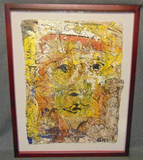 """Original Contemporary Oil Painting by Alexander Gore Original Oil Painting by Russian Artist """"Alexander Gore"""". Framed under glass. Oil on Cotton. Titled """"The Between Flat & Analitical Format"""". Artist signed and Dated 2019. Frame measures 29-1/2"""" tall x 23-1/2"""" wide. Includes Certificate of Authenticity. Condition is Excellent. No Damage. Several Shipping Options Available. Starting Bid $150. Auction Estimate $200 - $300."""