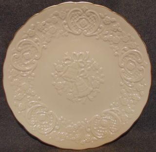 """The Lenox China Marriage Plate The Lenox Ivory China Marriage Plate from the Wedding Promises Collection. Measures 12-1/2"""" wide. Condition is very good. No Damage. Several Shipping Options Available. Starting Bid $20. Auction Estimate $30 - $40."""
