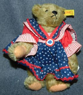 """Vintage Steiff """"Muffy Vander Bear"""" #0155/26 Vintage Steiff """"Muffy Vander Bear"""". #0155/26 . Condition is very good. No Damage. Measures aprox 8"""". Several Shipping Options Available. Starting Bid $30. Auction Estimate $50 - $60."""