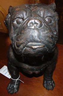 """Bronze English Bulldog Sculpture Bronze English Bulldog Sculpture. He measures 15"""" tall. Condition is Brand New, Mint. No Damage at all. Several Shipping Options Available. Starting Bid $100. Auction Estimate $150 - $250."""