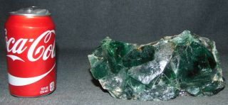 "Large & Rare Cubic Green Florite Cluster Large & Rare Cubic Green Florite Cluster. Measures 8"" x 4"" x 3-1/2"" deep. Condition is very good. Excellent. No damage. Several Shipping Options Available. Starting Bid $80. Auction Estimate $120 - $200."