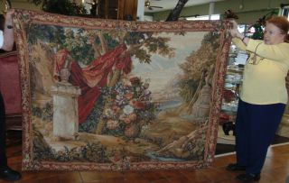 "European Style Wall Tapestry European Style Wall Tapestry. Beautiful European Style Tapestry Wall Hanging with Landscape and Floral Design. Label reads ""Tapestries, LTD - High Point North Carolina"". Measures 60"" tall x 74-1/2"" wide. Condition is very good to excellent. No damage. Several Shipping Options Available. Starting Bid $150. Auction Estimate $250 - $400."
