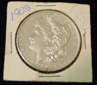 Morgan US Silver Dollar 1903 Morgan US Silver Dollar. Dated 1903. Circulated. In House, Flat Rate Shipping on this item is $11.50. Insurance included. Starting Bid $40. Auction Estimate $50 - $60.