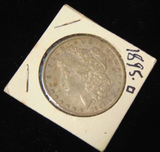 Morgan US Silver Dollar 1895-o Morgan US Silver Dollar. Low Mintage. Dated 1895-o. Circulated. In House, Flat Rate Shipping on this item is $11.50. Insurance included. Starting Bid $300. Auction Estimate $350 - $400.