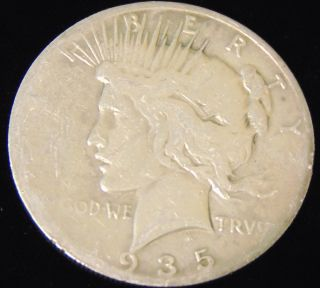 Morgan US Silver Dollar 1935-s Morgan US Silver Dollar. Dated 1935-s. Circulated. In House, Flat Rate Shipping on this item is $11.50. Insurance included. Starting Bid $20. Auction Estimate $50 - $60.
