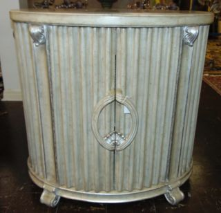 """Deco Style Marble Top End Table 2 Door Deco Style End Table with Marble Inlay Top. Measures 34-1/4"""" tall x 36"""" wide x 25"""" deep. Condition is very good. No damage. Several Shipping Options Available. Starting Bid $100. Auction Estimate $150 - $250."""