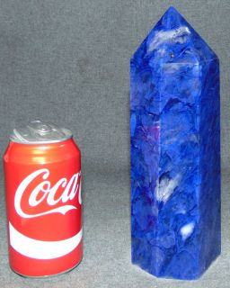 """Fine Blueberry Quartz point Fine Blueberry Quartz Obelisk Point. Also  know as Siberian Blue Quartz. 6 Sided. Measures 9-1/4"""" tall. Condition is Like New. Very good. No Damage. Several Shipping Options Available. Starting Bid $60. Auction Estimate $80 - $100."""