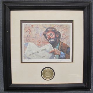"""Vintage Barry Leighton Jones Lithograph Tycoon  Vintage Barry Leighton Jones Limited Edition Lithograph Titled """"Tycoon"""". Pencil Signed. Numbered 1072 of 5000. Frame measures 16"""" tall x 16"""" wide. Condition is good. Starting Bid $20. Auction Estimate $20 - $80."""